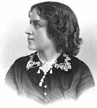 Anna Dickinson, the first woman to climb Colorado's highest mountain. Library of Congress.