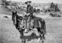 A cowboy in 1887. Photo taken by J.H. Grabill. The National Archives.