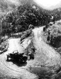 An early car in Rky. Mt. National Park. Photo Estes Park Museum.